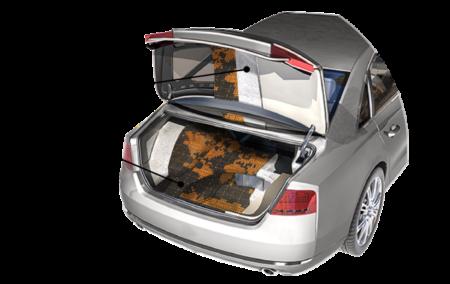 Шумоизоляция багажника в разрезе