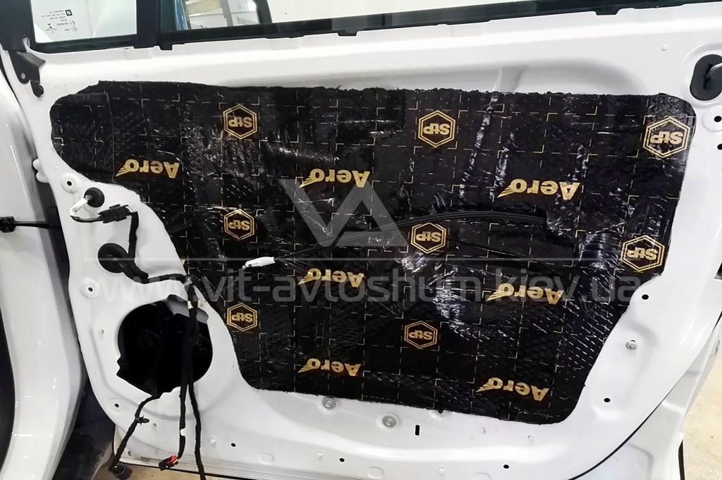 Вибро-шумоизоляция двери Opel Mokka