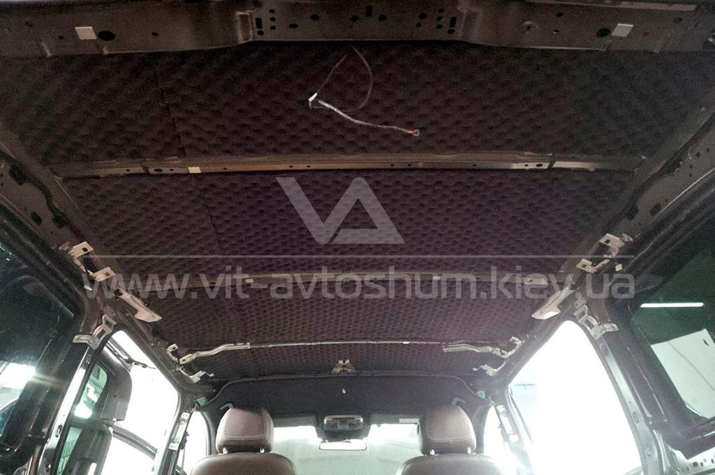 Виброшумоизоляци крыши Mercedes-Benz Vito